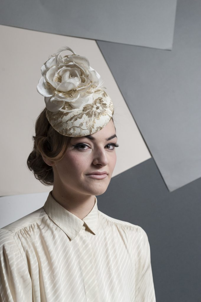 Handmade Floral Bridal Hat by Giulia Mio Millinery