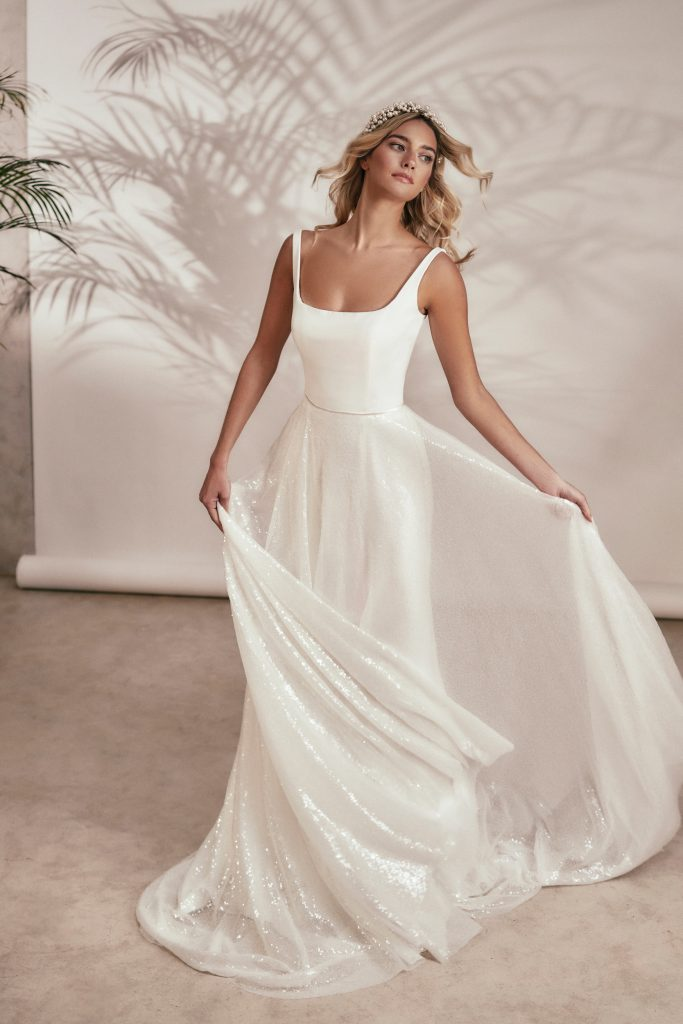 Stephanie Allin - Spirit 2021 Collection - Idol and Glow Overskirt Front