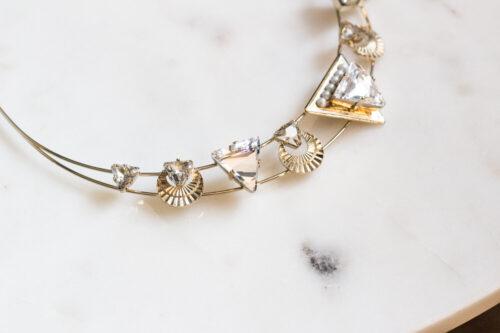 Nefertiti bridal crown by Tilly Thomas Lux