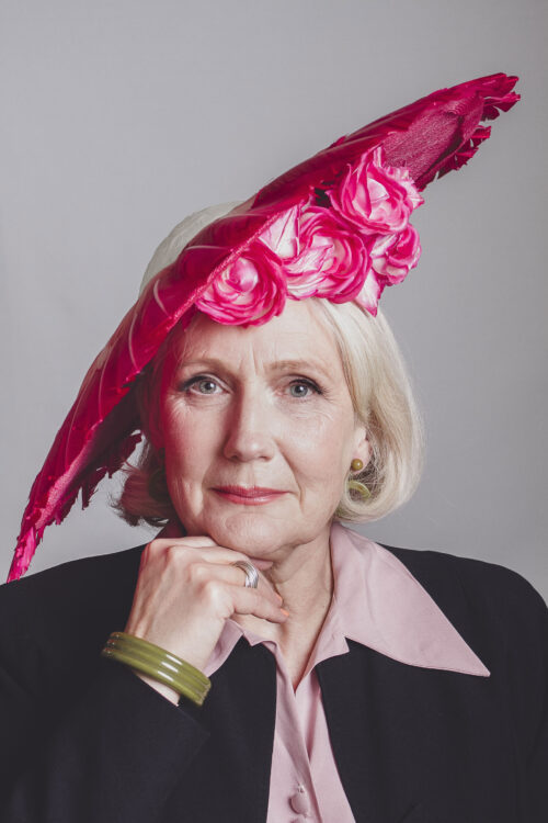 Bespoke handmade pink wedding hat for mother of the bride by Giulia Mio Millinery in Leicester